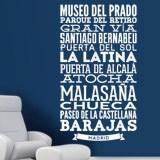 Wandtattoos: Typografische der Straßen von Madrid 2