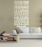 Wandtattoos: Typografische der Straßen von Madrid 4