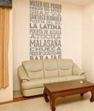 Wandtattoos: Typografische der Straßen von Madrid 5