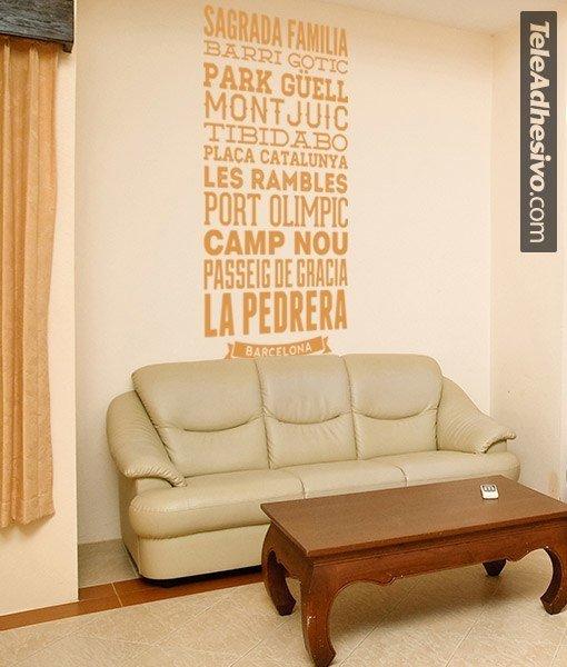 Wandtattoos: Typografische der Straßen von Barcelona