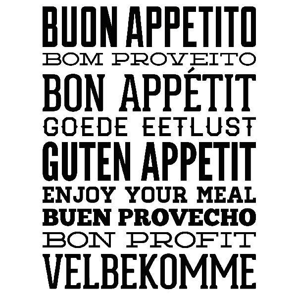 Guten Appetit Französisch wandtattoo guten appetit webwandtattoo com