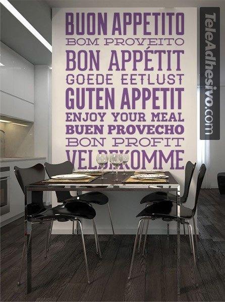 Wandtattoos: Guten Appetit