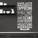 Wandtattoos: Kaffee Sorten 0