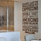 Wandtattoos: Kaffee Sorten 2