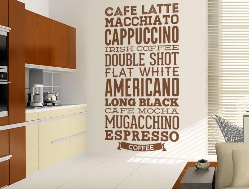 Wandtattoos: Kaffee Sorten