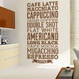 Wandtattoos: Kaffee Sorten 3