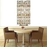 Wandtattoos: Kaffee Sorten 4