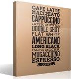 Wandtattoos: Kaffee Sorten 6