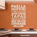Wandtattoos: Gastronomie von Spanien 0