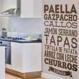 Wandtattoos: Gastronomie von Spanien 1