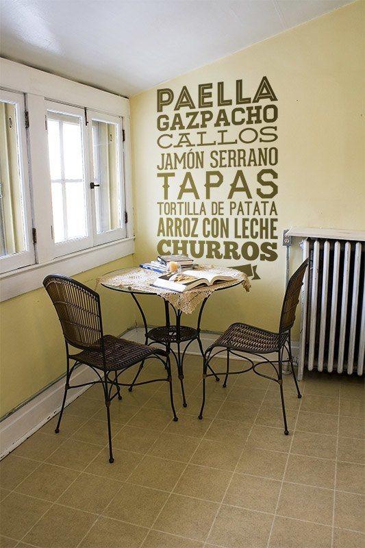 Wandtattoos: Gastronomie von Spanien
