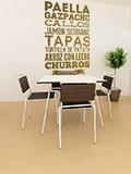 Wandtattoos: Gastronomie von Spanien 3