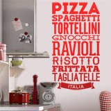 Wandtattoos: Gastronomie Italiens 1