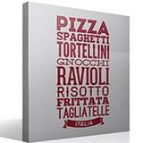 Wandtattoos: Gastronomie Italiens 5