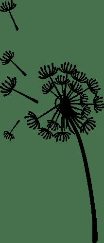 Aufkleber: Pflanze Löwenzahn