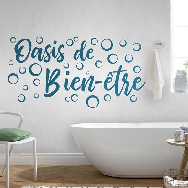 Wandtattoo badezimmer Wellness oase | WebWandtattoo.com