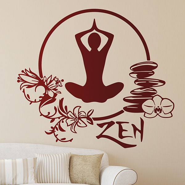 Wandtattoos: Meditation-Yoga-Übung