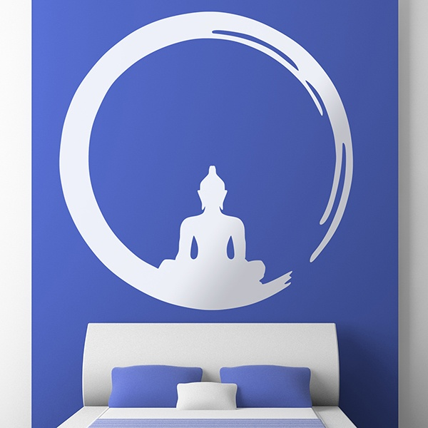 wandtattoo zen buddha in enso. Black Bedroom Furniture Sets. Home Design Ideas