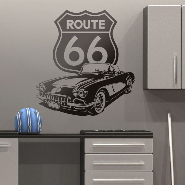 Wandtattoos: Corvette Route 66