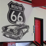 Wandtattoos: Corvette Route 66 2