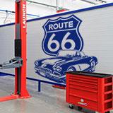 Wandtattoos: Corvette Route 66 3