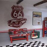 Wandtattoos: Corvette Route 66 4