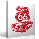 Wandtattoos: Corvette Route 66 5