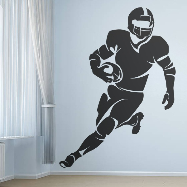 Wandtattoos: American-football-Spieler 0