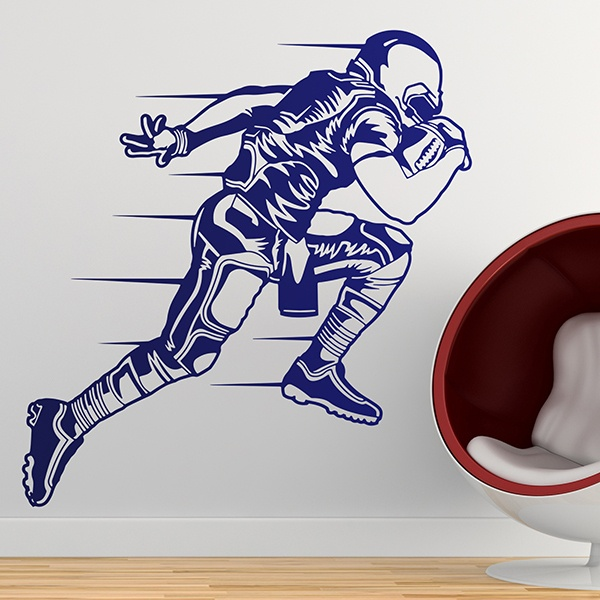 Wandtattoos: Sprint American-football