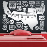 Wandtattoos: Route 66 Road Map 2
