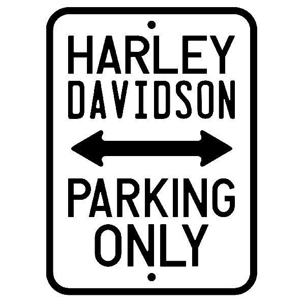 Wandtattoos: Harley Parking Only