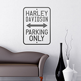 Wandtattoos: Harley Parking Only 0