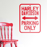 Wandtattoos: Harley Parking Only 2