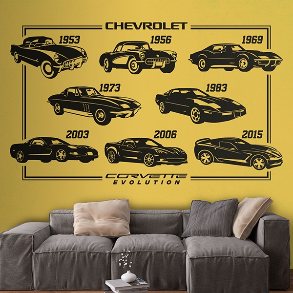 Wandtattoos: Evolution Chevrolet Corvette