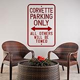 Wandtattoos: Corvette Parking Only 0