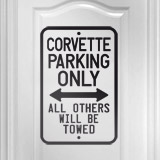Wandtattoos: Corvette Parking Only 2