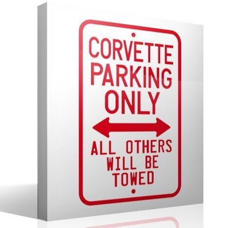 Wandtattoos: Corvette Parking Only