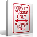 Wandtattoos: Corvette Parking Only 3