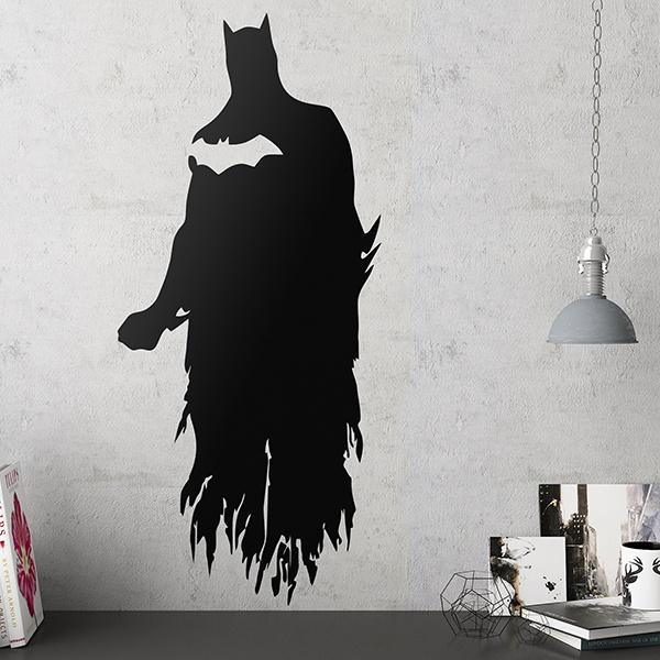 Wandtattoo batman silhouette for Batman wandtattoo