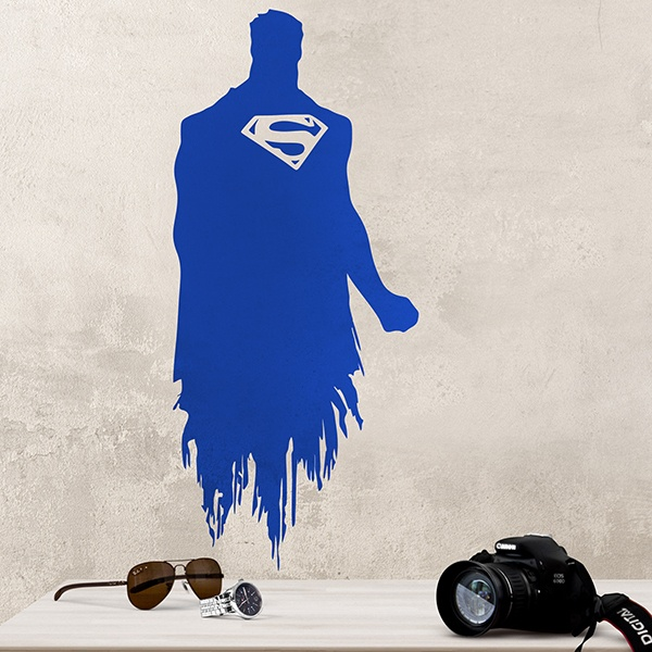 Wandtattoos: Superman-silhouette