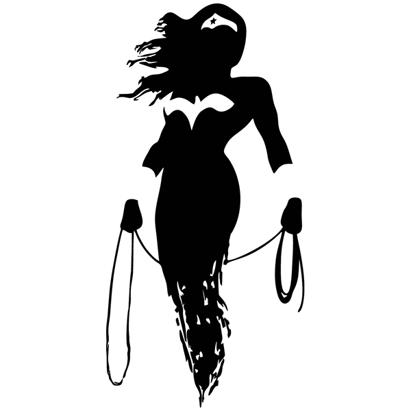 Wandtattoos: Wonder Woman silhouette