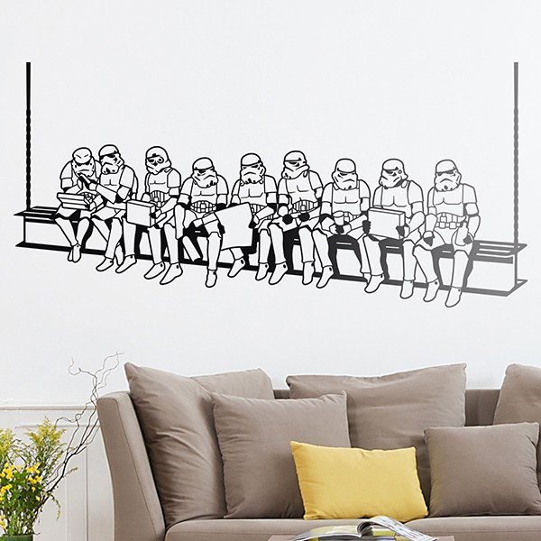 wandtattoo star wars. Black Bedroom Furniture Sets. Home Design Ideas