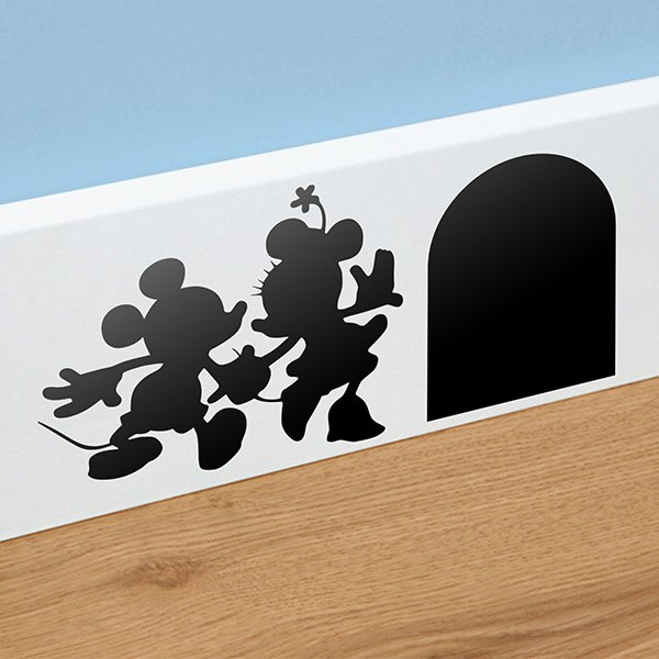 wandtattoo mickey und minnie loch sockelleiste. Black Bedroom Furniture Sets. Home Design Ideas