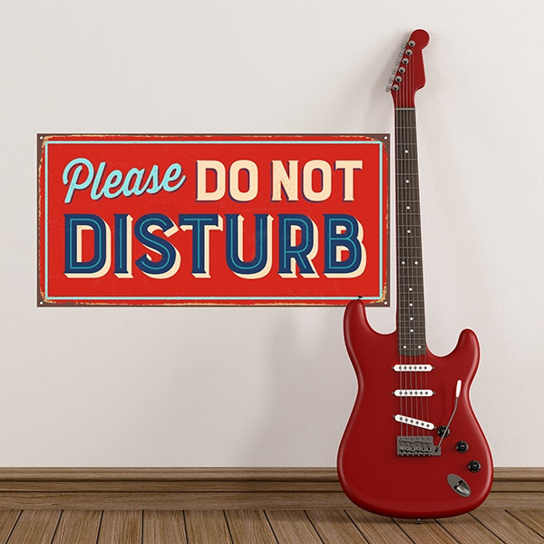 Wandtattoos: Retro-Zeichen Please do not disturb