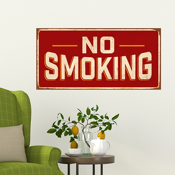 Wandtattoos: Retro-Zeichen No smoking