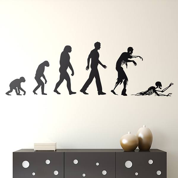 Wandtattoos: Evolution Zombie