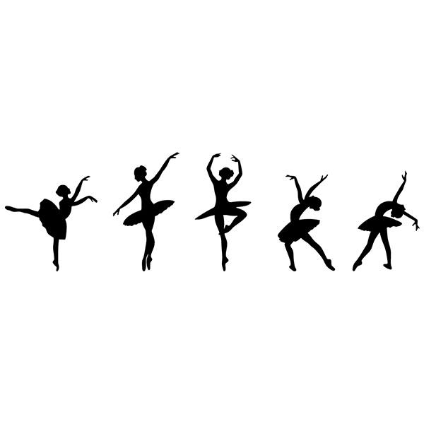Wandtattoos: Ballettfiguren