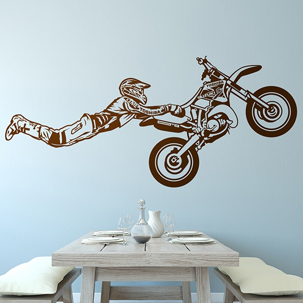 Wandtattoos: Superman springt Motocross