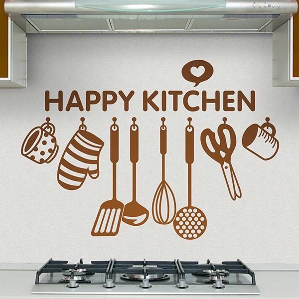 Wandtattoo küche Glückliche Küche auf Englisch | WebWandtattoo.com