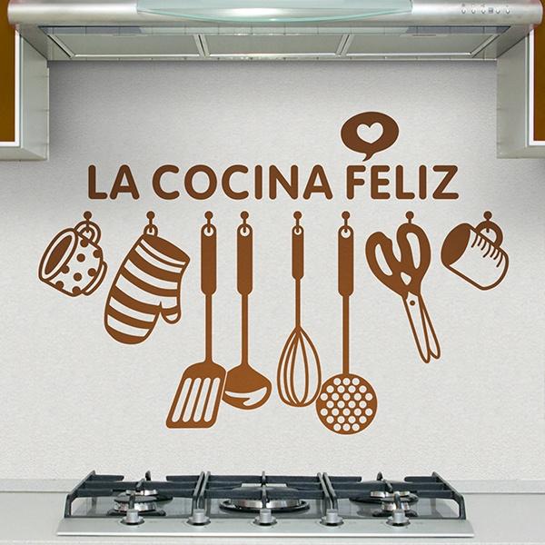 Wandtattoo küche Glückliche Küche auf Spanisch | WebWandtattoo.com
